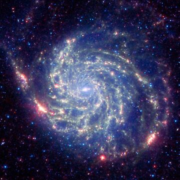 Messier 101 Spiral Galaxy Astronomy Image by Greenbaby