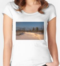 The Morning After the Snowstorm Women's Fitted Scoop T-Shirt