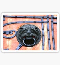 Middle Ages door handle, gate in Germany Sticker