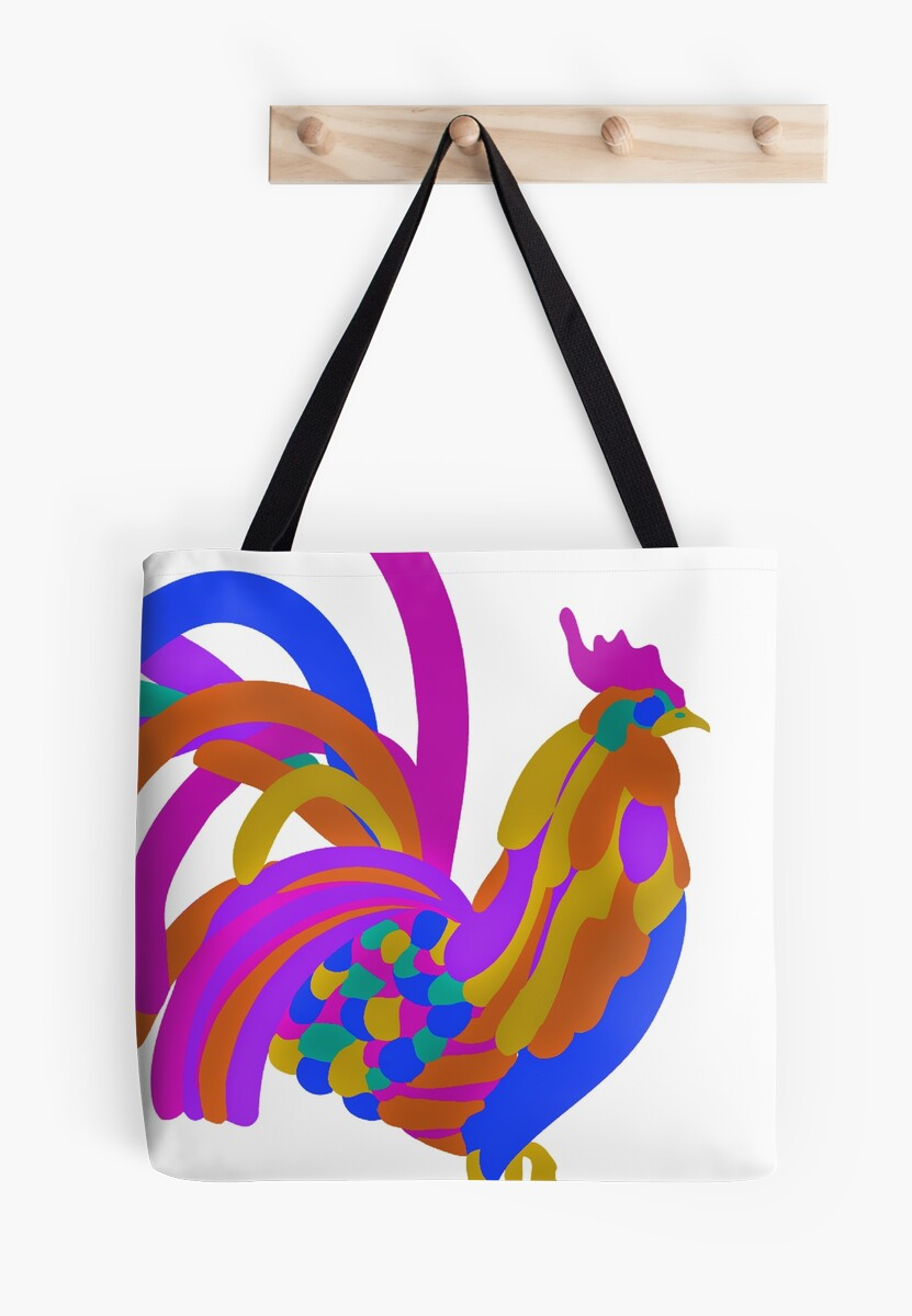 Colorful Abstract Rooster Art Mug by Nicholas Thompson
