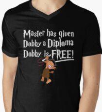 Dobby Graduate- No year Mens V-Neck T-Shirt