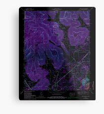USGS TOPO Map Alabama doran cove al-tn histmap Inverted Metal Print