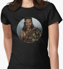 Nasir's Sneaky Smile (Nagron, Spartacus) Colorized Version Womens Fitted T-Shirt