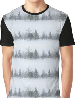 Snowstorm - Tall Trees and Whispering Snowflakes Graphic T-Shirt