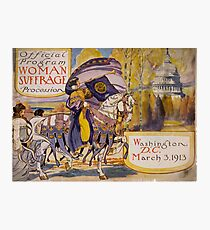 Washington DC Suffrage Procession 1913 Photographic Print