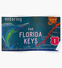 Eingabe der Florida Keys Poster