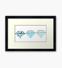 diamonds are forever Framed Print