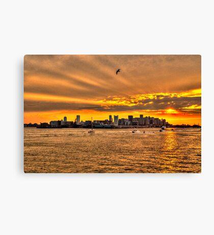 Golden Rays, Boston, MA Canvas Print