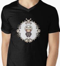 The Skeleton Mens V-Neck T-Shirt