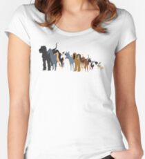 Sighthound Line Up Women's Fitted Scoop T-Shirt