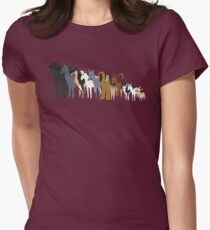 Sighthound Line Up Women's Fitted T-Shirt