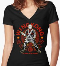 Big Trouble in Little China - Wing Kong Exclusive Women's Fitted V-Neck T-Shirt