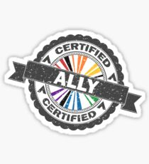 Certified LGBT Ally Stamp Sticker