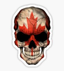 Canadian Flag Skull Sticker