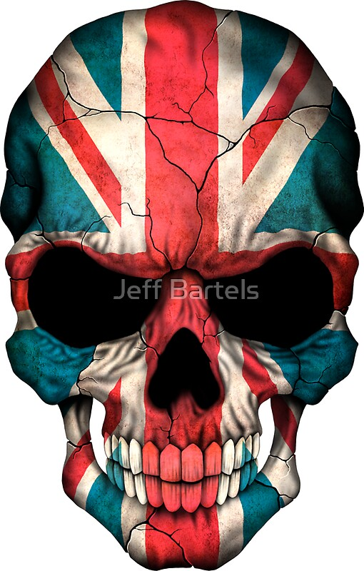 Quot British Flag Skull Quot Stickers By Jeff Bartels Redbubble
