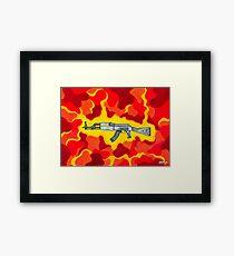 Machine Gun Funq Framed Print