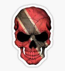 Trinidadian Flag Skull Sticker