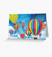 Air Balloons in the Sky 3 Greeting Card