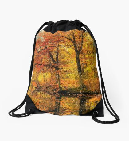Fall colors of New England Drawstring Bag