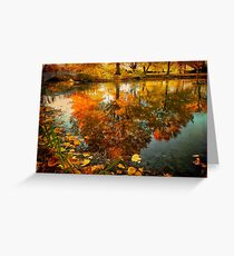 Reflection of the fall Greeting Card
