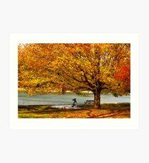 Golden maple warm me up  Art Print