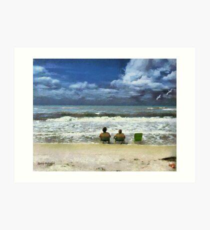 Lifes a Beach  Art Print