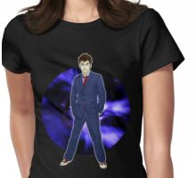 The 10th Doctor - David Tennant Womens Fitted T-Shirt