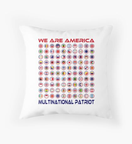 We Are America Multinational Patriot Flag Collective 2.0 Throw Pillow