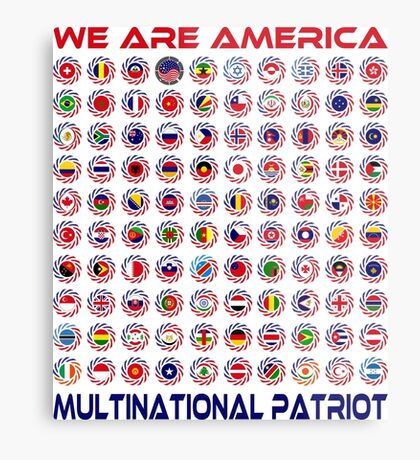 We Are America Multinational Patriot Flag Collective 2.0 Metal Print