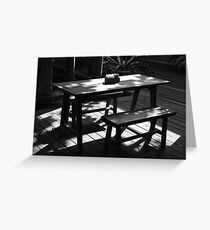 table Greeting Card