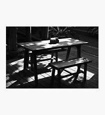 table Photographic Print