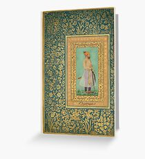 Portrait of Sayyid Abu'l Muzaffar Khan, Khan Jahan Barha, Folio from the Shah Jahan Album Greeting Card