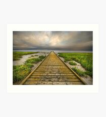 The Old Wood Jetty Art Print