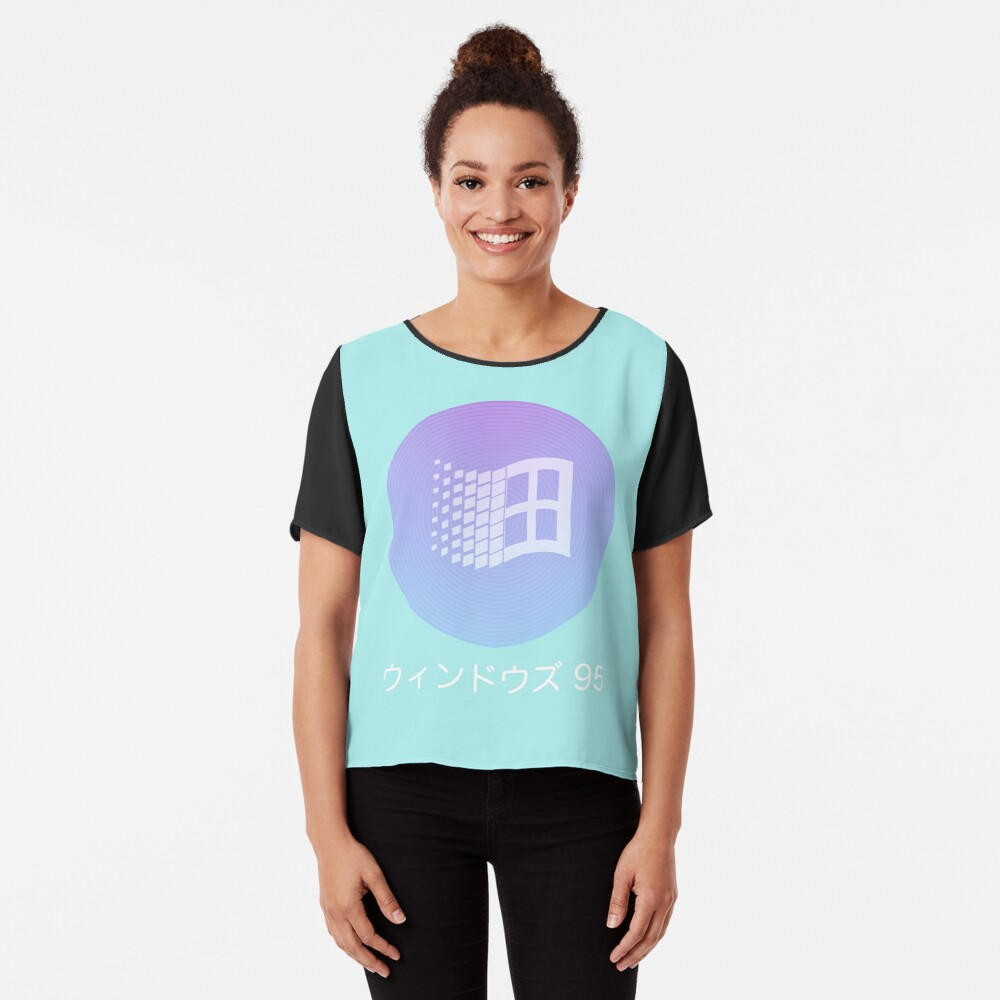 Windows 95 Vaporwave Blusa