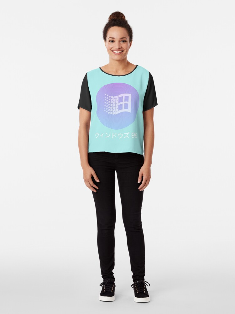 Vista alternativa de Blusa Windows 95 Vaporwave