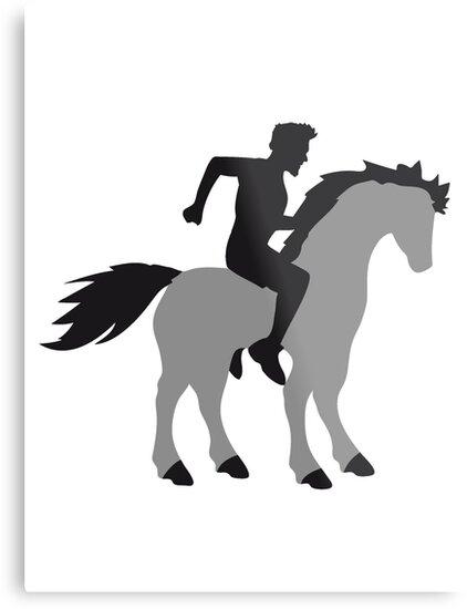 Lienzos met licos montar a caballo jinete ross pr ncipe joven chico semental esquema caballo de - Regalos chico joven ...