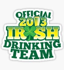 Official 2013 IRISH Shirt with beer pint and a shamrock Sticker