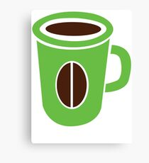 Green coffee mug cute! Canvas Print
