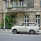 Trabbi, Trabant car from East Germany, in Berlin by Remo Kurka