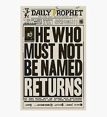 Daily Prophet Photographic Print