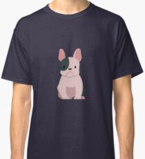French bulldog in black and white Classic T-Shirt