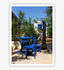 Blue chairs Sticker