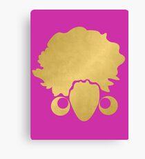 "Gold ""No Additives"" Logo Canvas Print"
