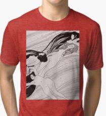 Gustav Klimt - The Blood Of Fish -Klimt  Tri-blend T-Shirt