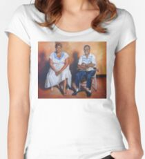Ella Fitzgerald & Louis Armstrong Women's Fitted Scoop T-Shirt