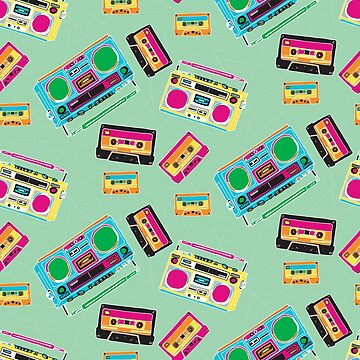 80's Music Boombox and Cassette tapes by RenegadeBhavior