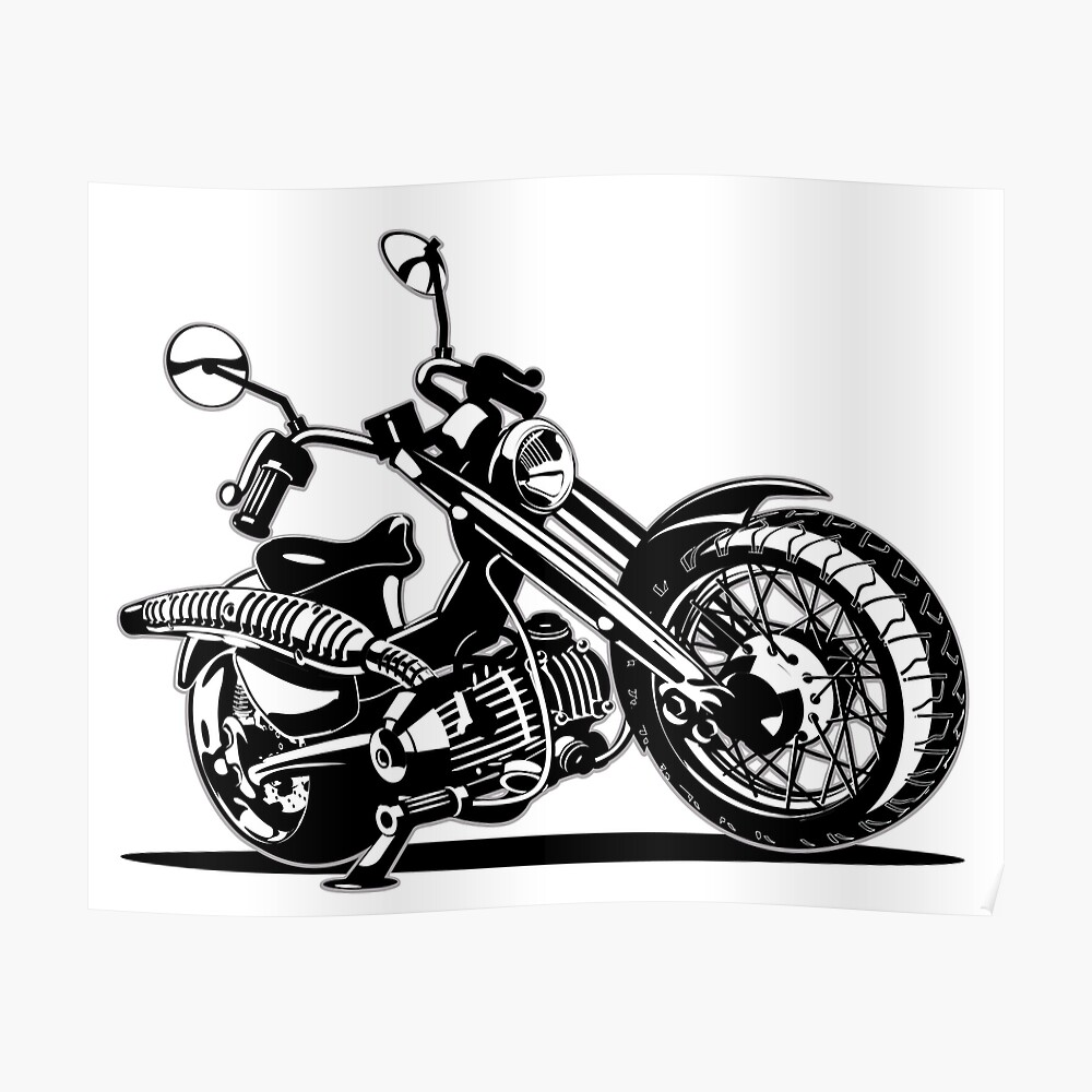 Impression Artistique Moto De Dessin Anime Par Mechanick