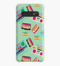 80's Music Boombox and Cassette tapes Case/Skin for Samsung Galaxy