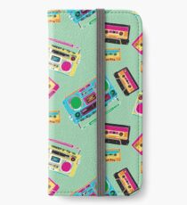 80's Music Boombox and Cassette tapes iPhone Wallet/Case/Skin