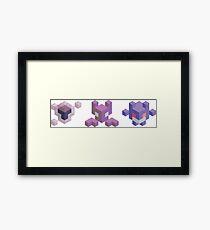 Ghastly Evolution Line, Pokemon Framed Print